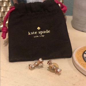 Kate Spade Rose Gold Bow Stud Earrings
